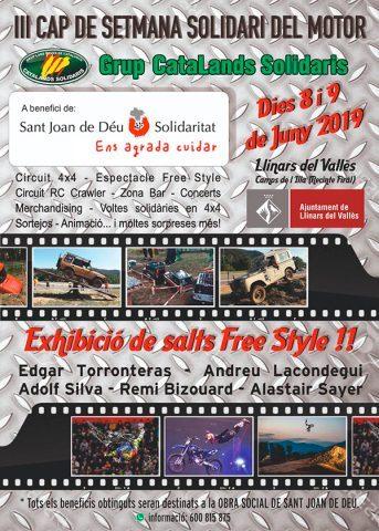 Cartell del III Cap de Setmana Solidari del Motor a Llinars del Vallès